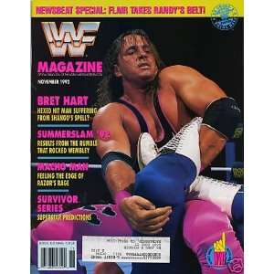 WWF MAGAZINE   NOVEMBER 1992 ISSUE   BRET HART COVER WWF Books