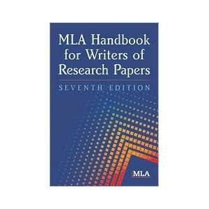 of Research Papers 7th Edition by Modern Language Association): Books