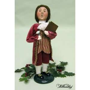 Byers Choice Grand Illuminations Boy With White Rose