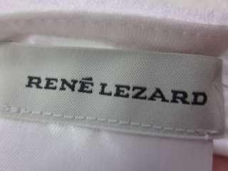 RENE LEZARD White Cotton Bead Trim Tank Top Shirt Sz L