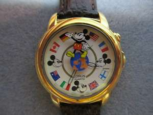 Mickey Mouse Small World Musical LORUS Watch Excellent Condition HTF