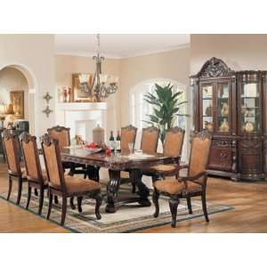 9pc Formal Dining Table & Chairs Set Cherry Finish