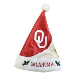 Oklahoma Sooners OU NCAA Holiday Santa Hat