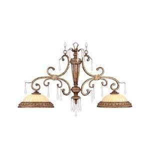 Liz Jordan 8882 65 La Chic Multi Light Pendant Light   Vintage Gold