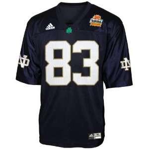Adidas Notre Dame Fighting Irish #83 Navy 2006 Fiesta Bowl Replica