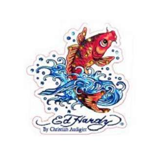 Ed Hardy Koi Fish Crystal Cling Bling
