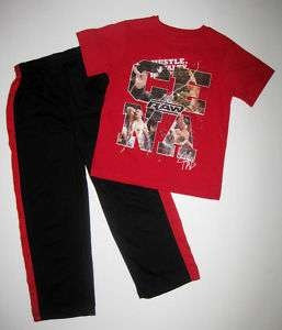 BOYS 5/6 or 7 WWW John Cena Raw SPORT PANTS & SHIRT SET