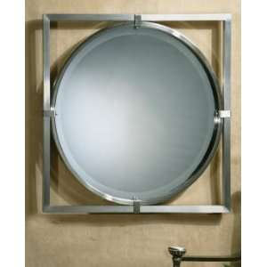 Extra Large Modern Square Chrome Wall Mirror