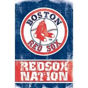 BOSTON RED SOX LOGO MLB POSTER 24 X 36 NATION #3942