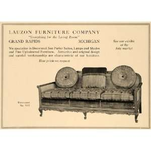 1918 Ad Lauzon Furniture Davenport No. 935 Grand Rapids