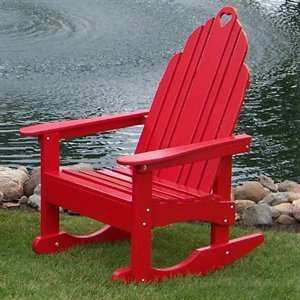 Leisure 17 Red Grandparens Oudoor Rocking Chair Spors & Oudoors