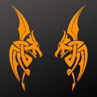 Tribal tattoo design Decal Sticker Dragon Art WRS28