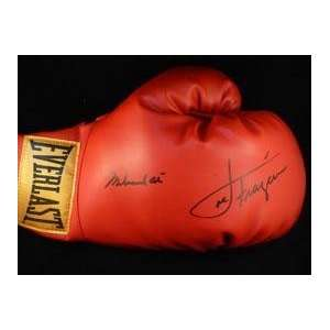 Dual Signed Muhammad Ali and Joe Frazier Boxing Glove