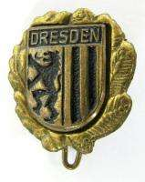 VINTAGE DRESDEN COAT OF ARMS LAPEL PIN BADGE GERMANY »