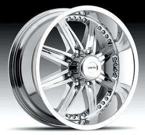 22 DRIV 22inch 22x9.5 MOONSHINE 8 LUG 8x170 Chrome One SINGLE Wheel