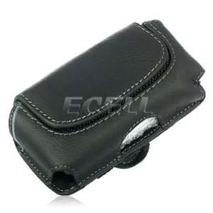Ecell   BLACK LEATHER CASE POUCH & BELT CLIP FOR SONY