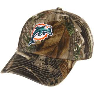 47 Brand Miami Dolphins Clean Up Adjustable Hat   Realtree Camo