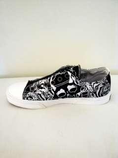 NEW Ed Hardy Women Sneaker Skulls Black Shoes Size 6 Light Weight
