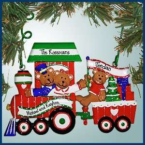 Personalized Christmas Ornaments   Teddy Bear Train   Personalized