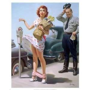 Art Frahm   Parking Meter Canvas: Home & Kitchen