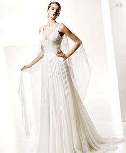 Elegant Chiffon Wedding dress Bridal Gown Size Free New