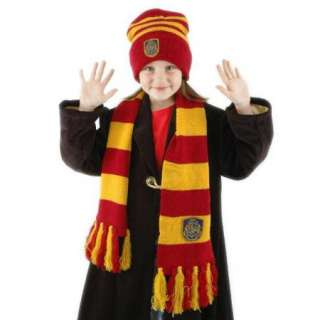 Harry Potter Hogwarts School Deluxe Scarf & Beanie Hat Set, NEW SEALED