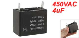 CBB61 4uF 5% 450V AC Polypropylene Film Motor Start Capacitor