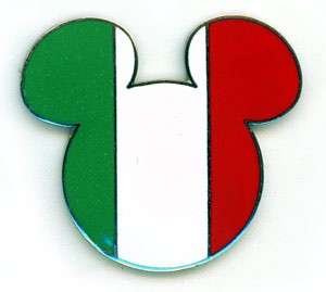 MICKEY MOUSE EARS HEAD ICON Epcot World FLAGS ITALY ORIGINAL ISSUE