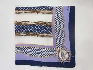 POLLINI Blue Purple Printed Silk Scarf