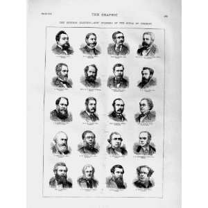 1874 House Commons Men Legard Holms Russell Praed Men