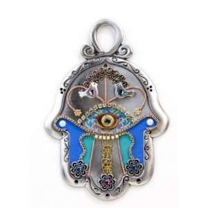 Handmade Evil Eye Protection Wall Hanging Hamsa Hand for