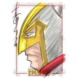 Iron Man Tom Hodges Sketch Card by Rittenhouse Archives