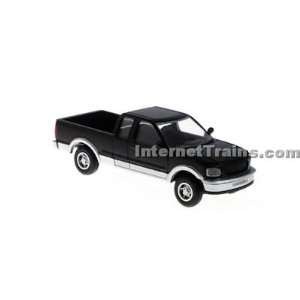 : Atlas HO Scale Ford F 150 Pickup Truck   Black/Silver: Toys & Games