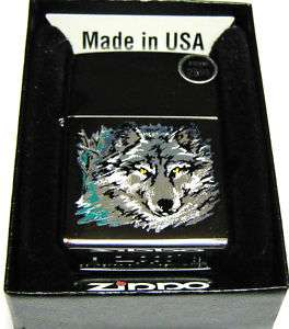 New Zippo Lighter   Hi Polish Chrome   Wolfs Head