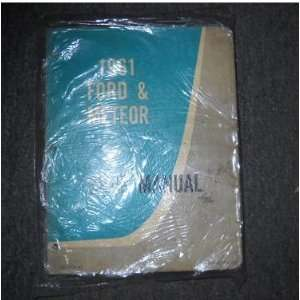 1961 Ford & Meteor Service Shop Repair Manual ford motor company