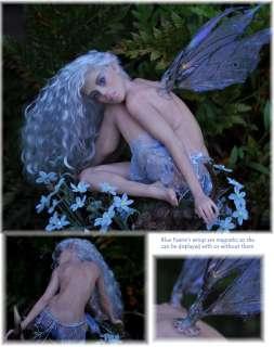 SCULPTURE #290 BLUE FAIRY   ooak by Faeries in the Attic (fita