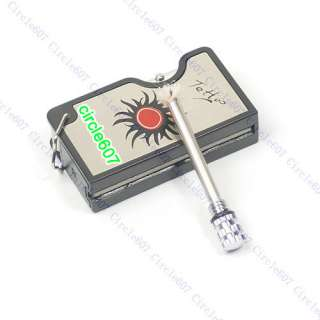 Silver Key Ring Chain Match Lighter with Money Detector