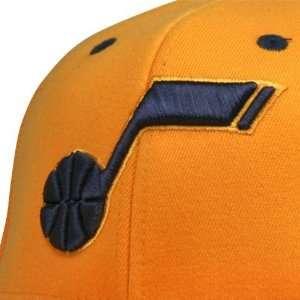 Utah Jazz Contrast Tonal Flex Fit Flat Brim Hat (Yellow)