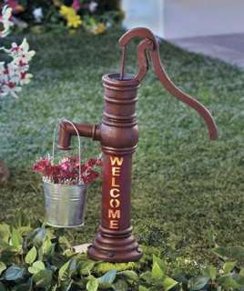 Solar Power Water Pump Planter Light Outdoor Garden Decor Path
