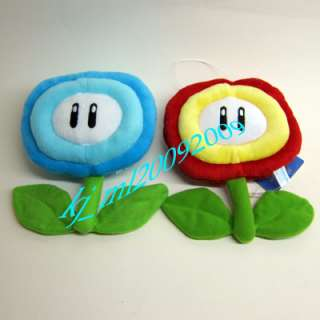 NEW Super Mario Bro Plush Doll Figure Ice & Fire Flower
