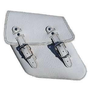 La Rosa Harley Dyna Wide Glide FXR White Ostrich Design Leather Saddle