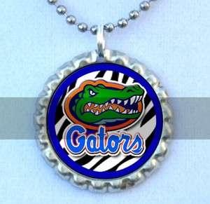 Florida Gators Flattened Bottlecap Necklace