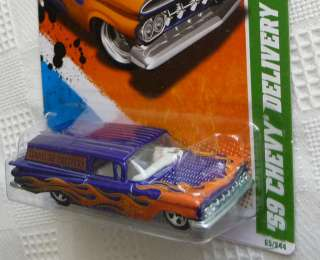2011 Hot Wheels TREASURE HUNT 59 CHEVY DELIVERY 15/15 65/244 1959