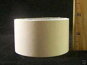 Wide Plain White Leather Wristband Bracelet Cuff