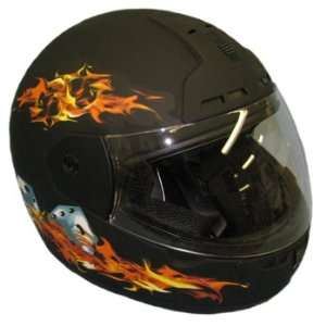 Max603 Flat Black Full Face Motorcycle Helmet X small