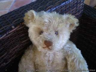 VERY BEAUTIFUL TEDDY BEAR . ANTIQUE STEIFF 1925s.YELLOW.16 3/4 inches