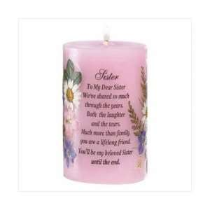 A Candle For Sister Poem Paraffin Wax Candles Palm Oil