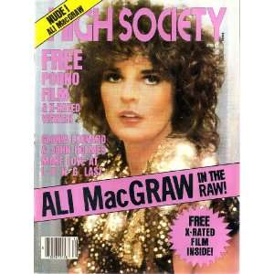 Society December 1980 Alli MacGraw, John Holmes: HIGH SOCIETY: Books