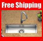 23 Under mounted Stainless Steel Zero Radius Single Kitchen Bar Sink