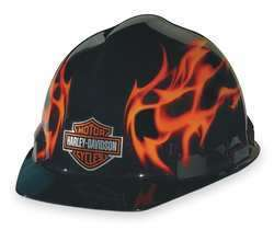Hard Hat Cap Harley Davidson (R) Flames Safety Helmet